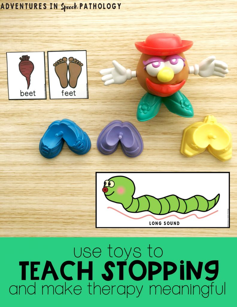 Use toys to teach stopping