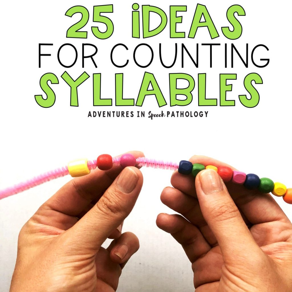 25 ideas for counting syllables
