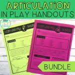 Articulation in Play Handouts