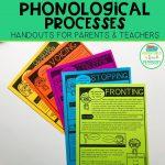 Phonological Process Handouts