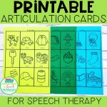Printable Articulation Cards