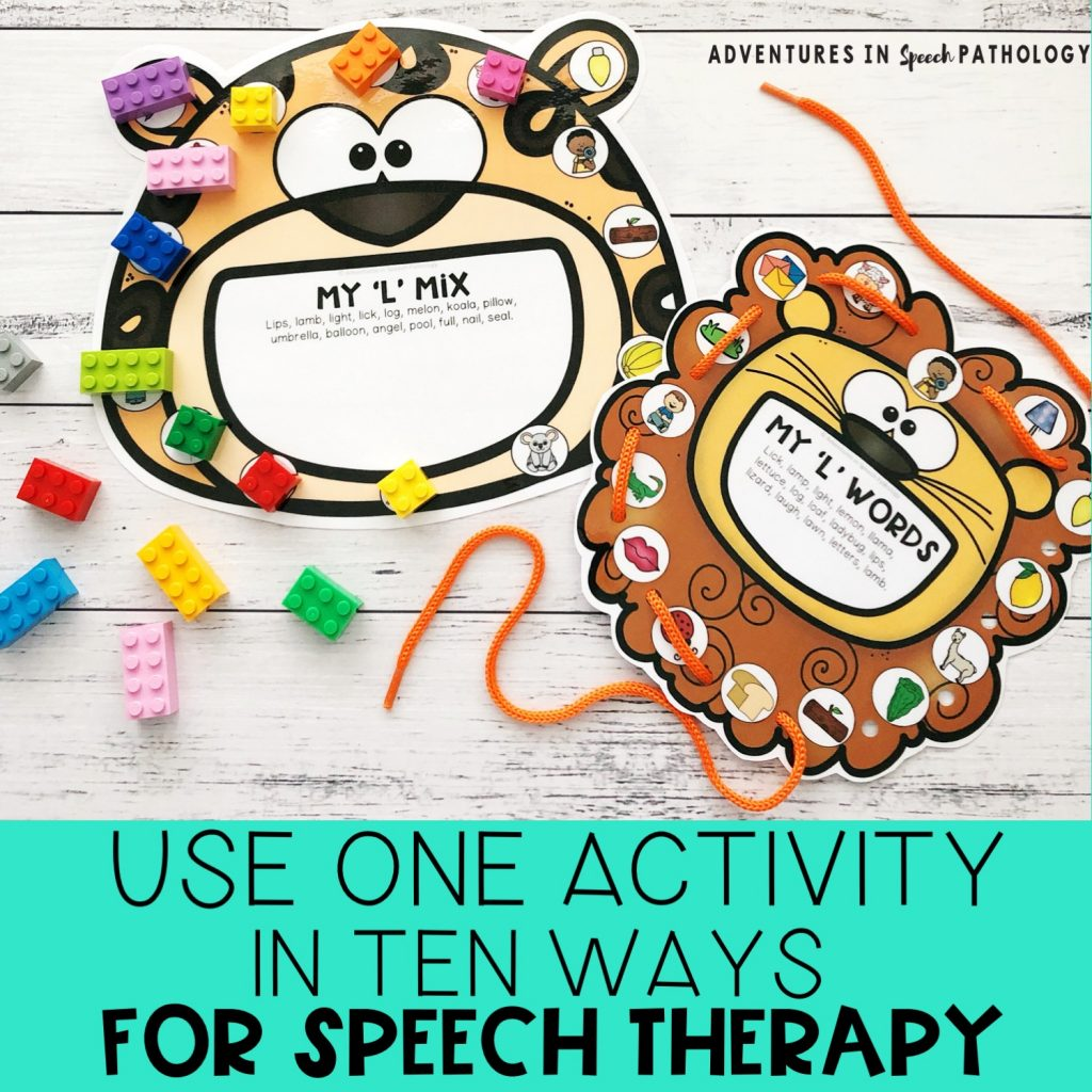 Use ONE activity in TEN ways for articulation