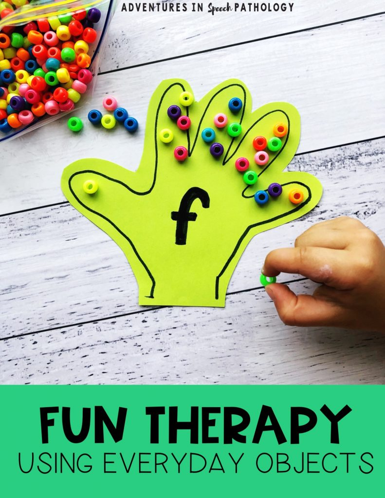 Fun therapy using everyday objects