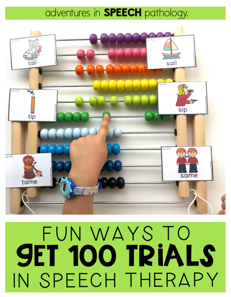 Fun ways to get 100 trials in speech therapy