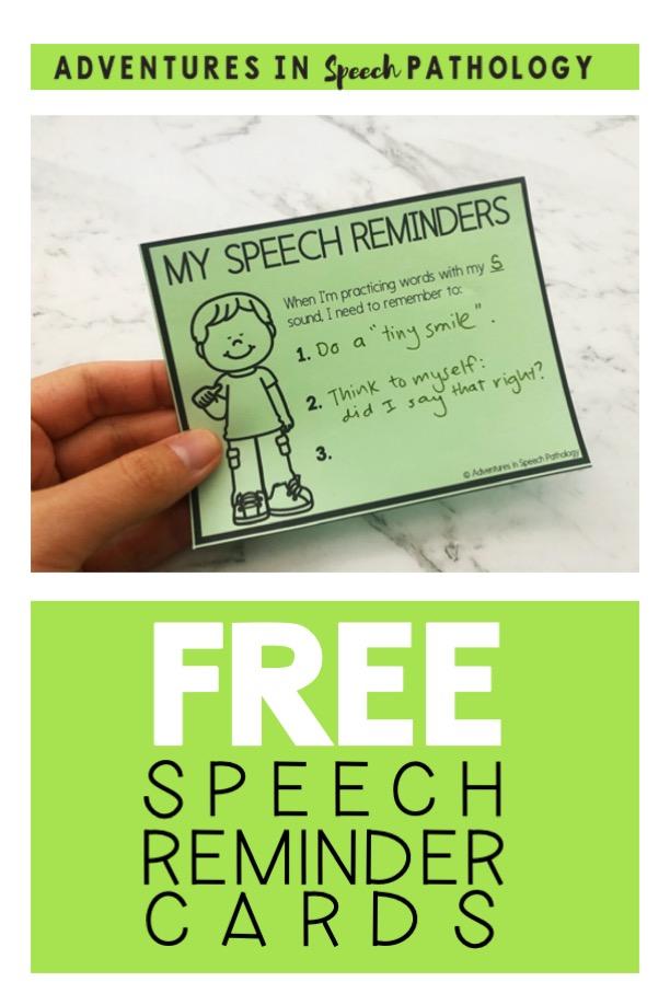 Free speech reminder cards