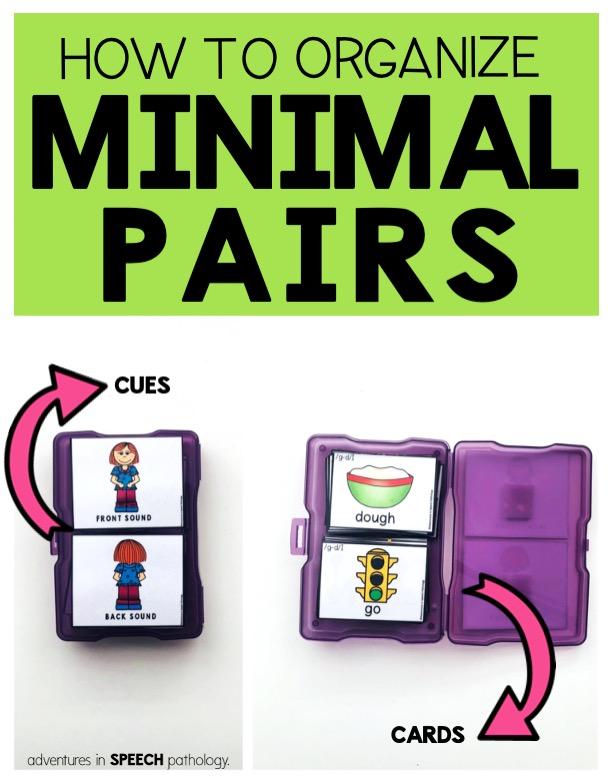 How to organize minimal pairs