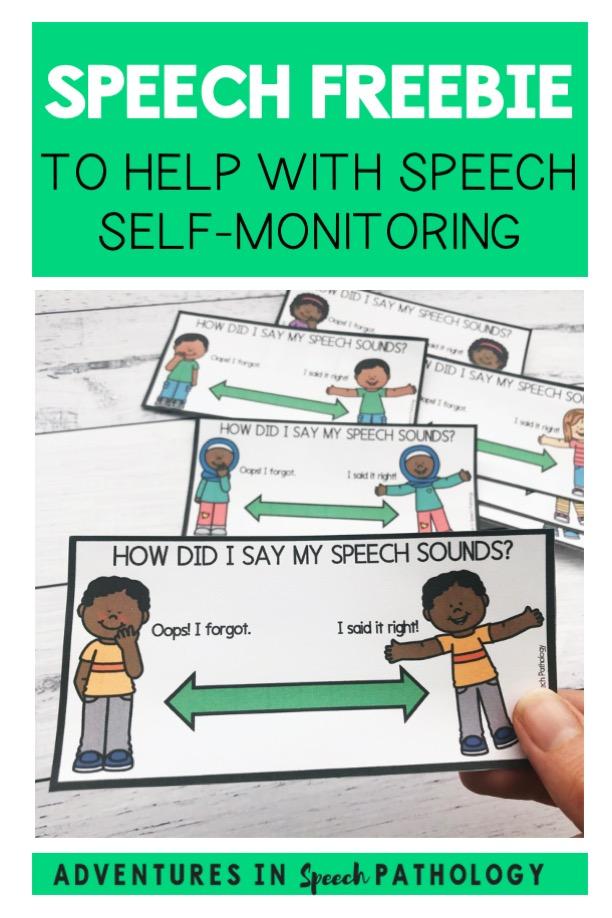Speech Freebie to help with speech self-monitoring