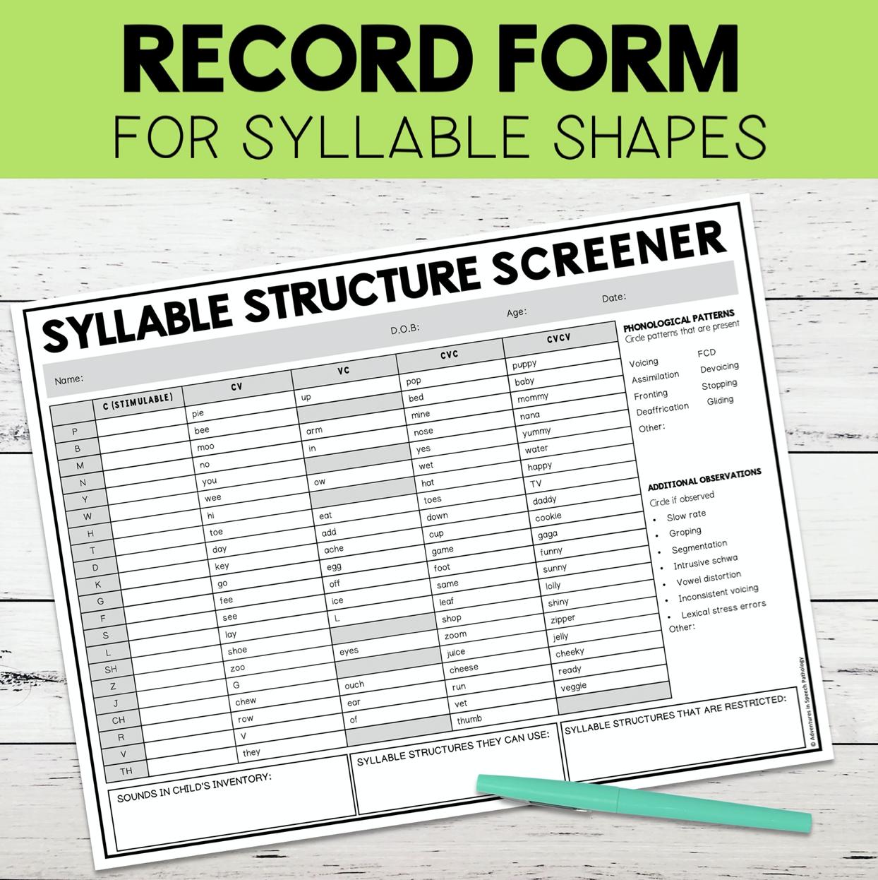 Syllable Screener3
